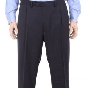 Ralph Lauren Classic Neil Cuff Pleated Blue Pants